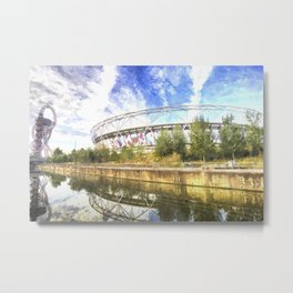 West Ham Olympic Stadium Art Metal Print