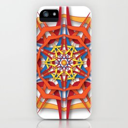 abstract mandala harsh sunlight iPhone Case
