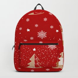 Red & white  gingerbread  #Christmas design Backpack