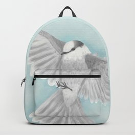 Gray Jay in Flight Backpack