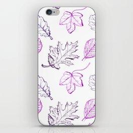 Leaves (purple) iPhone Skin