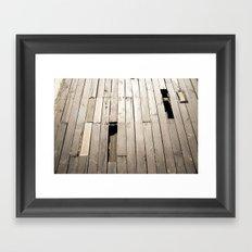 summer floor Framed Art Print