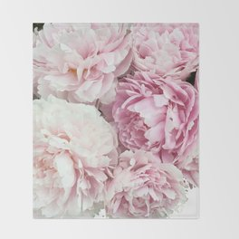 A bunch of peonies Throw Blanket