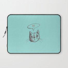 The Cat Says Mu (Blue) Laptop Sleeve