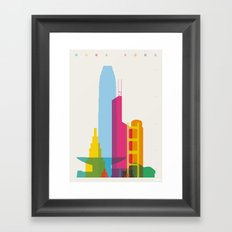 Shapes of Hong Kong. Accurate to scale Framed Art Print