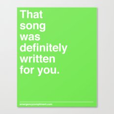 That Song Canvas Print