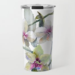 White and Pink Magnolias, Goldfish hiding, Surreal Travel Mug