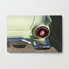 Mint Green Ford Thunderbird - Vintage Car Metal Print