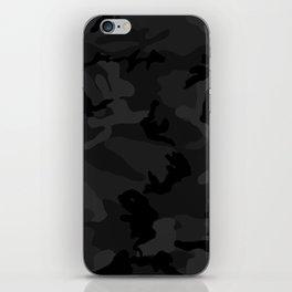 Camouflage Black iPhone Skin