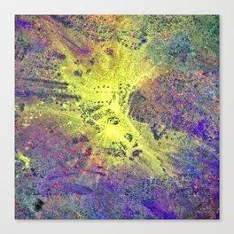 Neon Pavement Canvas Print