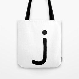 J Monogram (Hand 2) Tote Bag