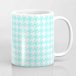 Aquamarine Houndstooth Coffee Mug