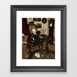 Clever Little Alice Framed Art Print