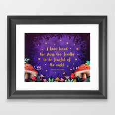 I have loved the stars too fondly Framed Art Print