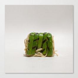 Asparagus noodle lunchbox Canvas Print