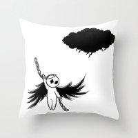 Halloween's angel Throw Pillow