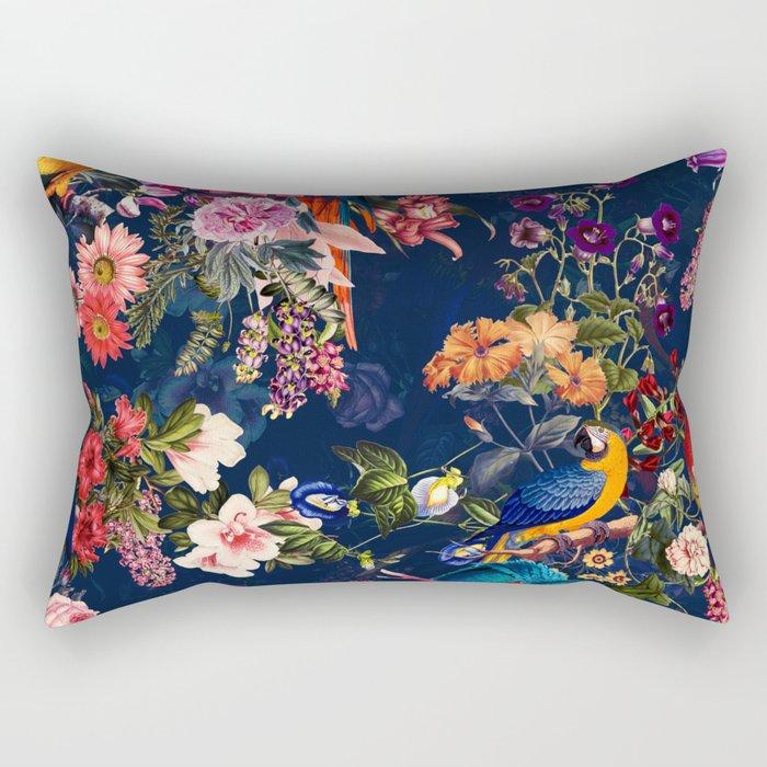 FLORAL AND BIRDS XII Rectangular Pillow