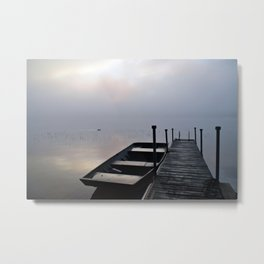 Misty Adirondack Dawn: A Duck's Paradise Metal Print