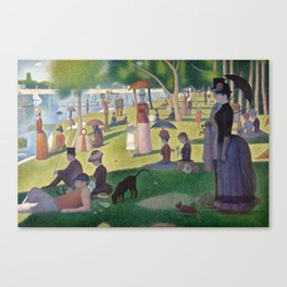 Georges Seurat - A Sunday Afternoon on the Island of La Grande Jatte Canvas Print