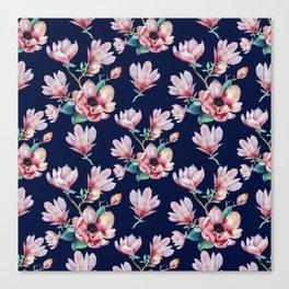 Romantic Floral Seamles Pattern 2 Canvas Print