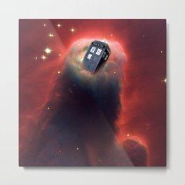 Tardis Doctor Who Pillar Of Gas Metal Print