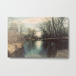 Cache la Poudre River Fort Collins Colorado Color Photo Metal Print