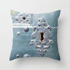 Old lock Throw Pillow