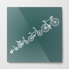 Ascent of a Cyclist Metal Print