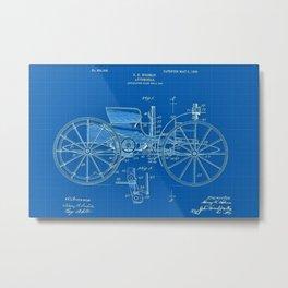 1904 Holsman Automobile Patent Blueprint Metal Print
