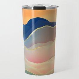 Abstract Mountain Landscape Digital Art Travel Mug