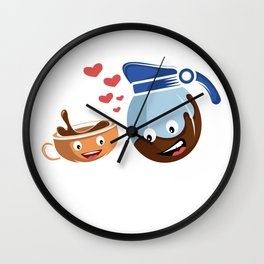 Brew Coffee Love Coffee Lover Or Addict Gift Wall Clock
