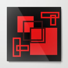 2D - abstraction -3a- Metal Print