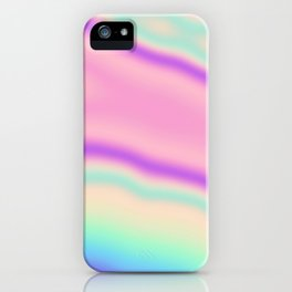 Holographic Foil Pastel Neon Colorful Pattern Abstract Marble Multi Colored Gradient iPhone Case