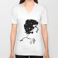 marine V-neck T-shirts featuring Marine by hickeyheart