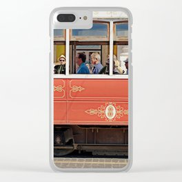 TRAM, LISBON, COLOR, YELLOW Clear iPhone Case
