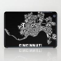 cincinnati iPad Cases featuring Cincinnati by Ricky Riccardo