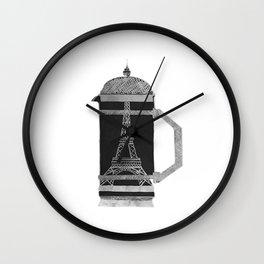 French Press Wall Clock