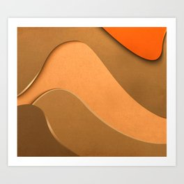Waves on Paper 3 Art Print