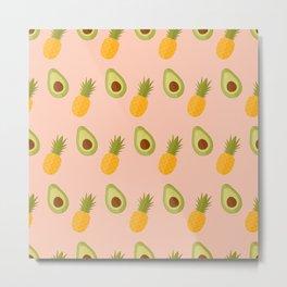 Avocado pineapple mix Metal Print