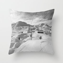 8 Seat Chair Lift B&W Throw Pillow