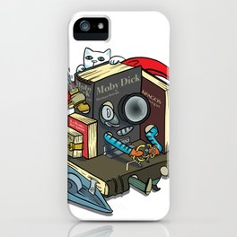 The Machine is one with your books iPhone Case