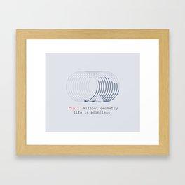hed geo hog Framed Art Print