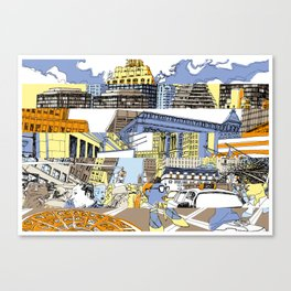 NY Stripes Canvas Print