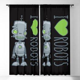 I Love Robots Blackout Curtain
