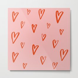 Heart Doodles 1 Metal Print