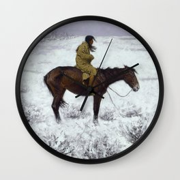 Frederic Remington - The Herd Boy, 1910 Wall Clock