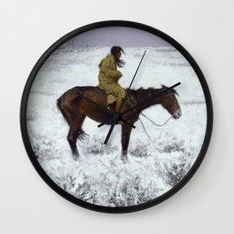 Frederic Remington - The Herd Boy, 1910 Wall Clock