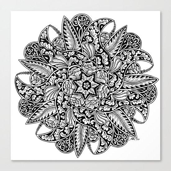 Ornament mandala Canvas Print