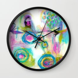 Driven To Distraction, Abstract Landscape Art Wall Clock