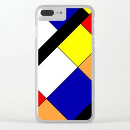 Mondrian #18 Clear iPhone Case